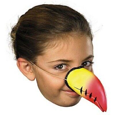 Unisex Papagei Tukan Vogel Tier Gelb & Rot - Papagei Nase Kostüm