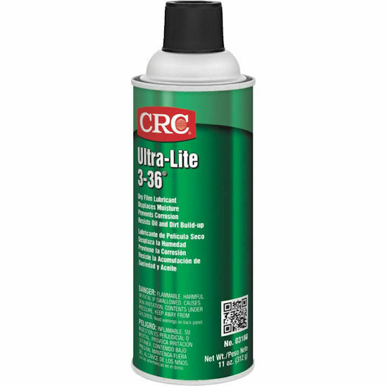CRC Ultra Lite 3-36 Ultra Thin Non Staining Lubricant, 11 oz Aerosol Can