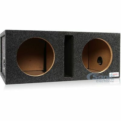 "Atrend 12DQV 12"" Dual Pro Series Vented/Ported Subwoofer Enclosure Box"
