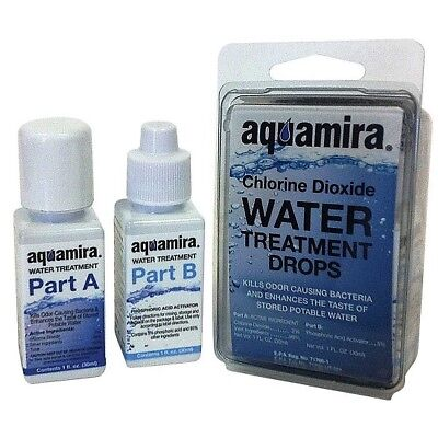 Aquamira 41001 Water Treatment Drops 1 Ounce Two Part Chlorine Dioxide