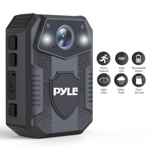 PYLE-SPORTPPBCM8 Police Body Camera / Night Vision. Waterproof, 16GB Memory