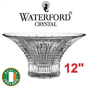 "NEW WATERFORD CRYSTAL BOWL 12"" - 125755459 - LISMORE DIAMOND 30.5cm INCLUDES COA"