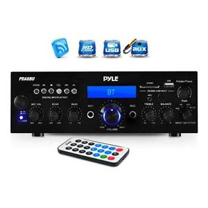 Pyle PDA6BU Bluetooth Stereo Amplifier Receiver, FM Radio/USB/SD memory