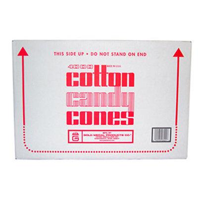Cotton Candy Cones Plain 3021 Gold Medal 4000 Pcscs