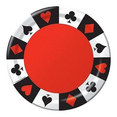 Casino Supplies Las Vegas (Card Night Dessert Plates - Casino / Gamling / Poker / Las Vegas Party)