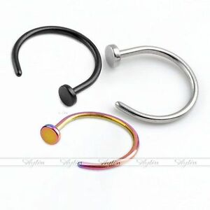 2pcs-316L-Surgical-Steel-Nose-Hoop-Ears-Tragus-Lip-Loop-Ring-Body-Piercing