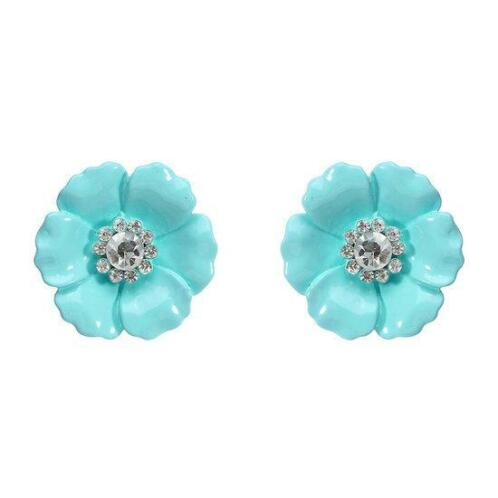 JASSY® Candy Color Flower Ear Stud Mooie Style Rhines...