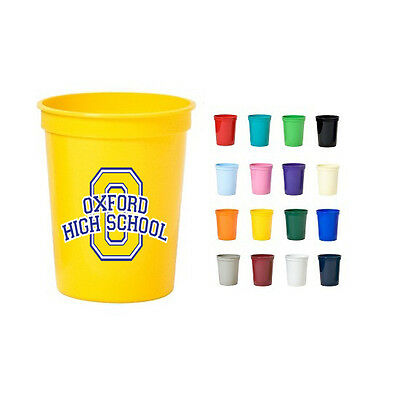 FREE 24 Hr Rush 150 Personalized Stadium Cups, Bulk Promo Products,Party - Personalized Disposable Cups