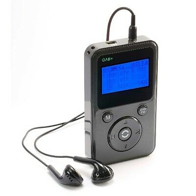 PORTABLE POCKET PERSONAL HANDHELD DAB DIGITAL DAB+ FM RADIO  - GREY