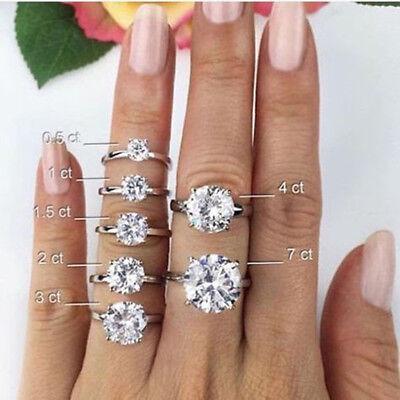 GIA 1.50 carat center Round Diamond Engagement 14k White Gold Ring F VS1 1.63 ct 5