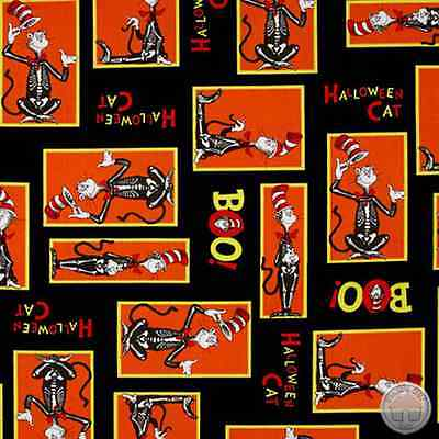 Dr Seuss Spooktacular 15304-283 Cat in the Hat Halloween Cotton Fabric by Yard (Dr Seuss Halloween)