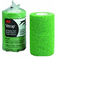 3M Vetrap 4 Inch x 5 Yards Neon Green Vet Wrap VetWrap Dog Horse tack