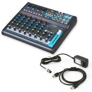 Pyle PMXU83BT 8-Ch. Bluetooth Studio Mixer - DJ Controller Audio Mixing Console System Canada Preview