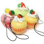 Cute Hard Ice Cream Fruit Cup Cake Cell Phone Charms Food...