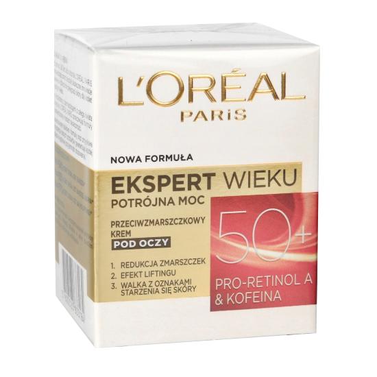 Loreal Antifalten Creme Anti Falten 50+ Augencreme gegen Hautätlerung 15 ml