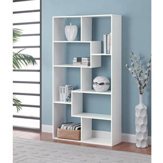 Tall Bookcase Cubby large Open Bookshelf Modern Cube 8 Shelf