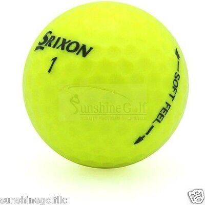 50 Near Mint Srixon Soft Feel Yellow AAAA Used Golf Balls