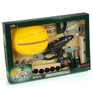 new klein bosch childrens 36pce tool play set with helmet cordless drill tools ebay. Black Bedroom Furniture Sets. Home Design Ideas