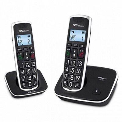 Telefono Fijo sin cable inalambrico teclas grandes personas mayores 7609N Duo