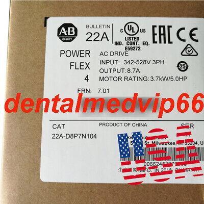 Original Allen-bradley 22a-d8p7n104a Powerflex 4 Ac Inverter Drive 3.7 Kw5 Hp