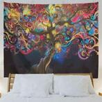 Psychedelic Tree Tapestry Colorful Patroon Wall Hanging T...