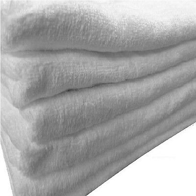 4 WHITE BATH SHEETS LARGE TOWEL SIZE 30x60 TURKISH COTTON SOFT FEEL LIGHTWEIGHT