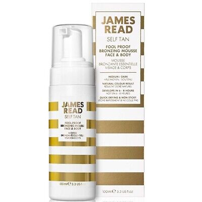 James Read Fool Proof Bronzing Mousse for Face & Body - Dark 100ml