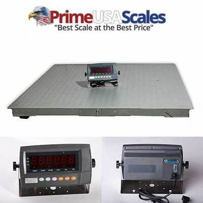 Digiweigh Floor Scaleheavy Duty Platform 48x48 10000 Lb By 1 Lb Accuracy