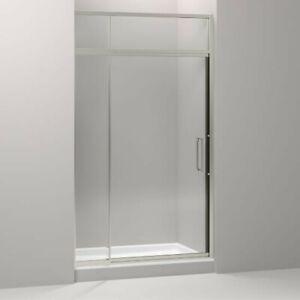 Kohler 705823-L-BNK Lattis Pivot Shower Door With Sliding Steam