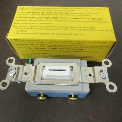 Hubbell Hbl1201lw Sp 15a 120277v Sw Industrial Switch