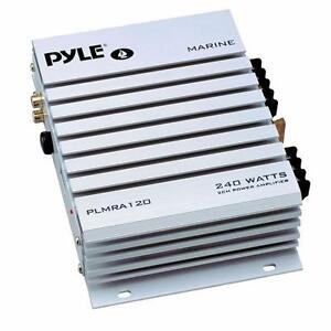 Pyle Marine Audio (PLMRA120) 2 Channel 240 Watt Waterproof Marine Amplifier