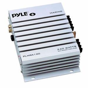 Pyle Marine Audio (PLMRA120) 2 Channel 240 Watt Waterproof Marine Amplifier