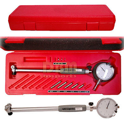 Dial Indicator 1.4 - 2.4 Bore Gage Set .0005 Grad Hole Engine Cylinder Gauge