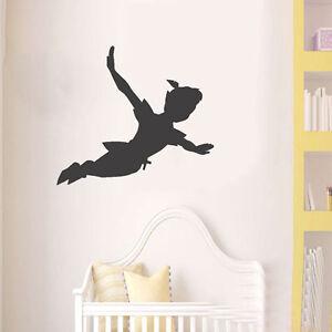 wall art peter pan shadow decal nursery vinyl sticker christmas kids children. Black Bedroom Furniture Sets. Home Design Ideas
