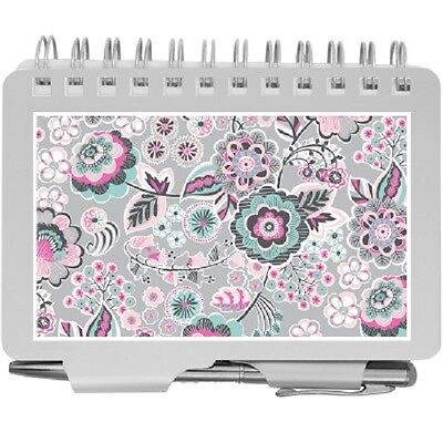 Wellspring Password Organizer Book W Pen  2976 Whimsical Blooms   Silver Floral