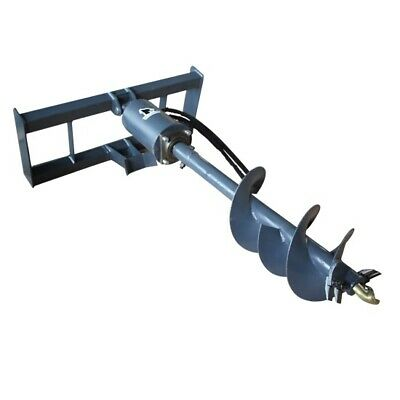 New Skid Steer Auger Post Hole Digger W 12 18 Dirt Bits 2 Hex Drive Motor