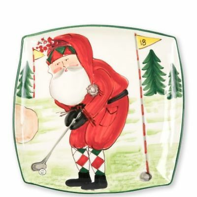 Vietri Old St Nick Square Platter - Golfing