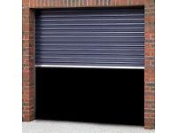 Henderson Manual Roller Shutter Garage, Shop, Lock-up Door - Dark Brown Finish