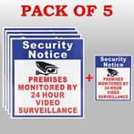 5X Premises Protected By 24 Hour Video Surveillance Sign ...