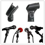 Black Flexible Mic Microphone Accessory Stand Plastic Cla...