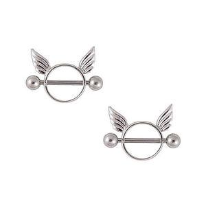 Nipple wings body piercing jewelry ebay for Angel wings nipple piercing jewelry