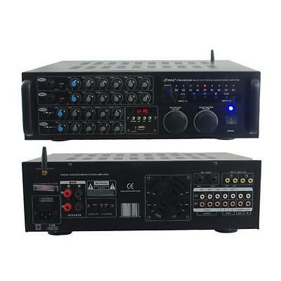 2000W Power Bluetooth Karaoke Mixer Amplifier Amp for Home Office USB/SD Readers