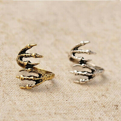 Halloween Punk Rock Jewelry Eagle Claw Talon Finger Ring Xmas Gifts 2 Colors - Halloween Claws