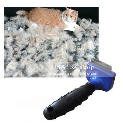 New Pet Cat Dog Cleaning Hair Fur Shedding Remove Grooming Tool Comb Brush Rake