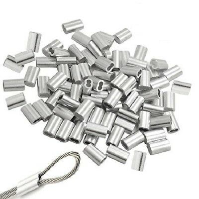 116 Aluminum Sleeves Clip Crimps For Aircraft Cable Wire Cord 50 Pcs