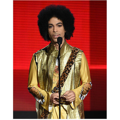Prince Close Up Glam with Beautiful Eyes Speaking into Mic 11 x 14 inch photo