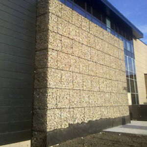 Strong stone gabion wall cages, baskets