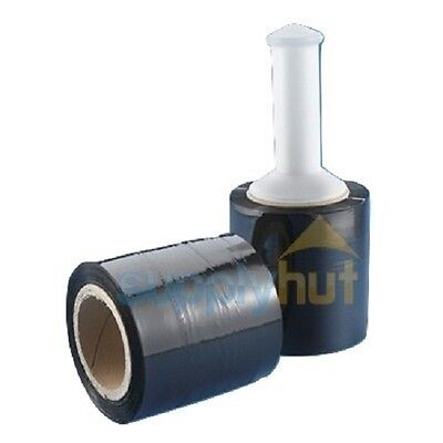 5 In. X 1000ft 80 Gauge 1 Roll Stretch Shrink Film Hand Wrap Handle Black