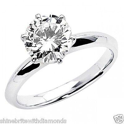 2 Ct Round Cut Solitaire Engagement Wedding Promise Ring Solid 950 Platinum