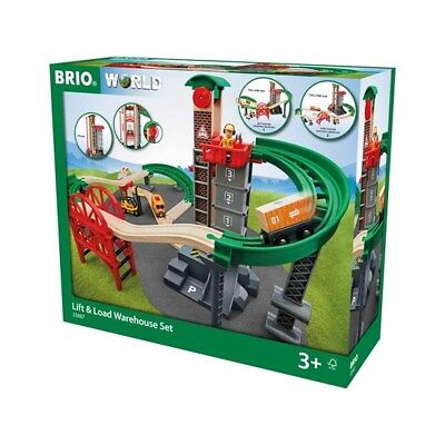 Brio Railway 33887 Großes Lagerhaus-Set mit Aufzug Neu & OVP